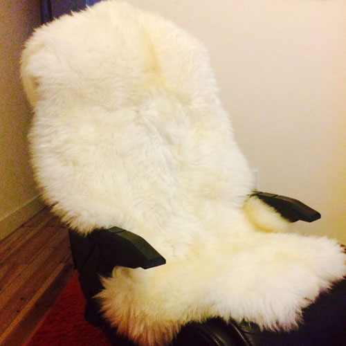 Extra Large Irish Sheepskin Rug Size